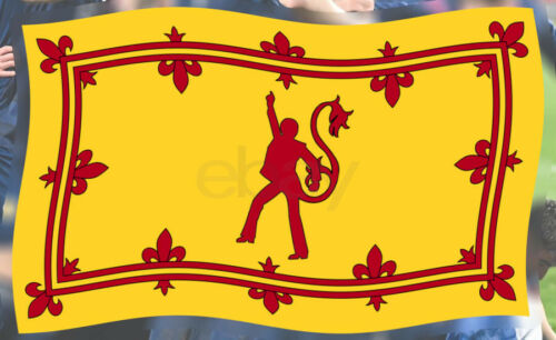 SCOTLAND FLAG - I CAN BOOGIE FUNNY LION RAMPANT - TARTAN ARMY EURO 2020 - 5x3ft