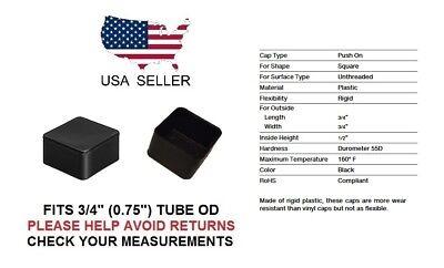 34 Inch Rigid Square Tubing Exterior End Cap 34 Quantity 4