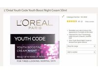 Loreal L'Oréal Youth Code Youth Boost Night Cream 50ml