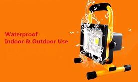 20W / 30W Flood Light Portable Rechargeable LED Work Site Light Waterproof IP65