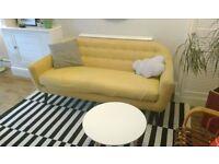 *Made Richie 3 seat Sofa in Ochre yelllow