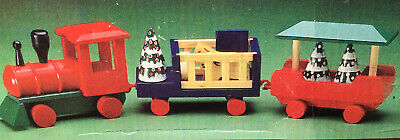 Windsor Collection 11 Pc Wooden Toy Train Set Christmas Decor Vintage 1994