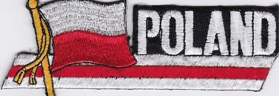 POLAND - FLAG - IRON ON PATCH