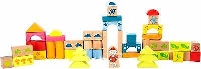 Holzbausteine für Kinder Holz Bauklötze Steine Sandmann Neu (Holz Bausteine Für Kinder)