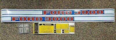 Decal Set For 1968 To 1975 Ford 3000 Diesel Tractor. Dkfd3000d