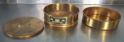 Fisher Scientific Usa Standard 120 Sieve Brass Frame Wcover Receiver Free Ship