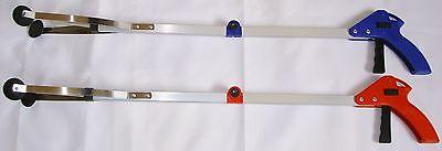 "Pick Up Tool Reacher Grabber Folding 32"" inch long With Gripper Lock stick New"