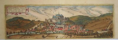 Dillenburg Nassau Hessen altkolorierter Braun und  Hogenberg Kupferstich 1580