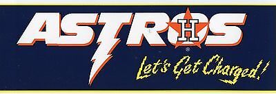 HOUSTON ASTROS BASEBALL TEAM BUMPER  STICKER VINTAGE   1993 MINT