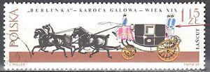 Poland 1965 - Horse-drawn carriages - error Mi. 1649 - used - <span itemprop=availableAtOrFrom>Cieszyn, Polska</span> - Poland 1965 - Horse-drawn carriages - error Mi. 1649 - used - Cieszyn, Polska