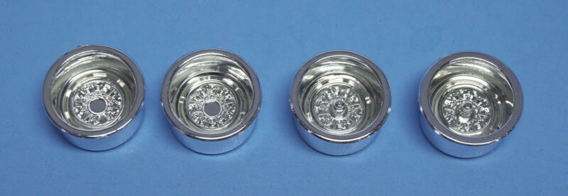 AMT Set of 4 New Wide Chrome Stocker Steel Wheels 1/25 Scale