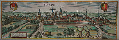 Soest - Braun und Hogenberg - Originale Ansicht um 1580