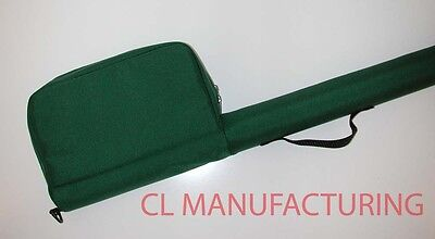 DARK GREEN FLY ROD / REEL CASE fits multi piece rods 30