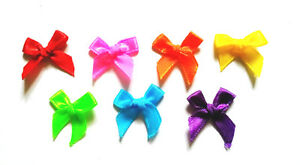 100-pcs-Mix-assorted-colors-ready-made-Satin-BOW-Ribbons-Decoration-20-x-25-mm