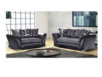 DESIGNER FURNITURE-SHANNON SOFA FABRIC & FAUX LEATHER LEFT / RIGHT CORNER/3+2 SEATER-CALL NOW