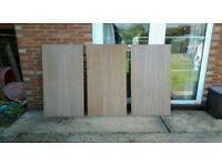 Three sheets of 22mm vaneered mdf 61x153 cm