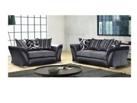 DESIGNER FURNIUTRE-SHANNON SOFA FABRIC & FAUX LEATHER LEFT / RIGHT CORNER/3+2 SEATER-CALL NOW..