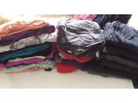 Big bundle of maternity clothes size 10/12