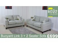 Buoyant Link Fabric 3 + 2 Seater Sofa £699