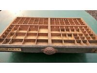 Antique French Printers Tray