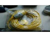 New 14m long 110v extension lead