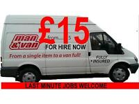 VAN AND DRIVER FROM £15, GLASGOW'S BEST VAN & MAN SERVICE. CALL NOW