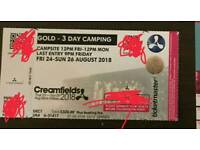 CREAMFIELDS 3DAY GOLD open to offers
