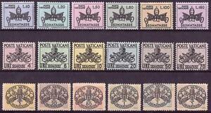 1946-68-CITTA-039-DEL-VATICANO-LE-TRE-SERIE-SEGNATASSE-NUOVO-MNH