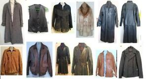 MENS COATS & JACKETS: Leather, Wool, Fur ALL Great Quality and Condition; New, Vintage and Gently Used