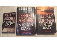 Set Of 3 - Jeffrey Archer - A Prison Diary