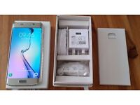 SAMSUNG GALAXY S6 EDGE GOLD PLATINUM 64GB IN IMMACULATE CONDITION WITH BRAND NEW ACCESSORIES