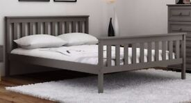 Wooden Bed Pine 3ft Single 90x190cm GREY
