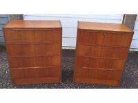 2 x Retro Chest of Drawers - £90 FREE DELIVERY ANYWHERE IN EDIN