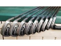 RIGHT HANDED GOLF CLUB SET CONSISTING OF 9 BEN SAYER IRONS + 3 DRIVERS (DONNAY ST. ANDREWS)
