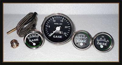 Gauge Set Temp Tachometer Oil Pressure Ammeter Fits Case Tractor 430 470 530