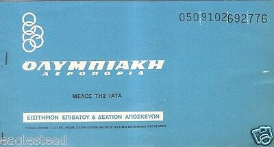 Airline Ticket   Olympic Airways   1 Flight   1980  T156