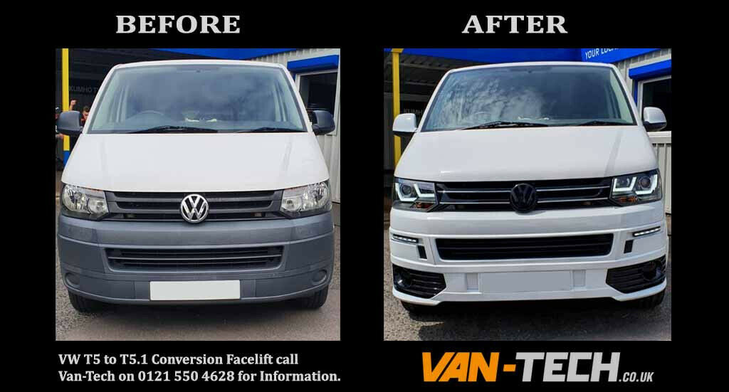VW Transporter T5 to T5 1 Front End Conversion Styling Pack | in  Stourbridge, West Midlands | Gumtree