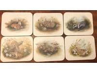 Place mats, coasters, serving mats and tray