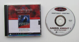 Gabriel Knight 1 - Sins Of The Fathers, PC game, 1 CD, Sierra, 1993