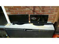 "19"" & 15"" TV's spares or repair with built ib dvd"
