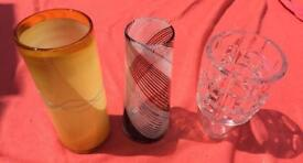 Selection of vases - £5 to £10 each