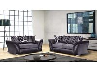 Brand New Grey Fabric Sofa Set 3+2 SHANNON with 1 year Warranty ONLY £349.99 FREE DELIVERY SAME DAY