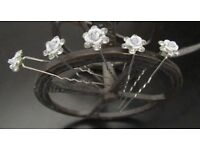 20pcs Rhinestone Diamante crystal Pearls Hair Pins and hair band