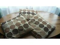 MOCHA CIRCLE CUSHIONS ONLY USED OCCASIONALLY GOOD CONDITION £10 FOR 3