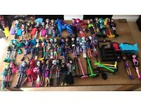 Monster high dolls (44qty) plus accessories