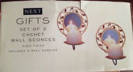 Next wall candle holders Brand New