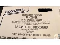 JP Cooper @ O2 Institute Birmingham (Rescheduled Sold Out Gig)