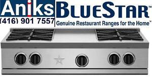 "BlueStar RGTNB364GV2 36"" RNB Rangetop with 4 BURNER - 12"" GRIDDLE (1) Simmer, (1)15K, (2) 22K  Model # RGTNB364GV2 Buy a"