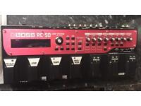 Boss rc-50 loop station looper pedal essex or london