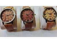 Wood Grain Watch with gift box